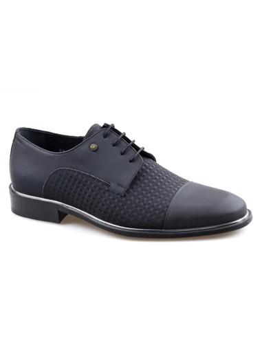 Smart Smart 2518 Siyah Erkek (39-44) Klasik Bağcıklı Deri Ayakkabı Siyah